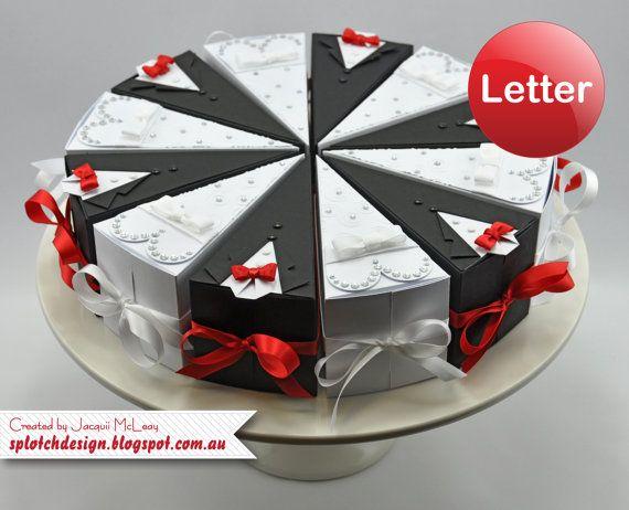 Wedding Cake Box Digital Tutorial  Imperial Letter por SpotchDesign, $3.95