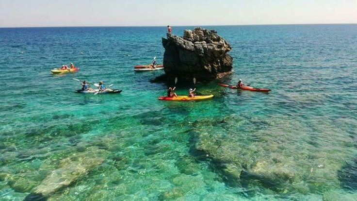 Canoeing at Damouchari !