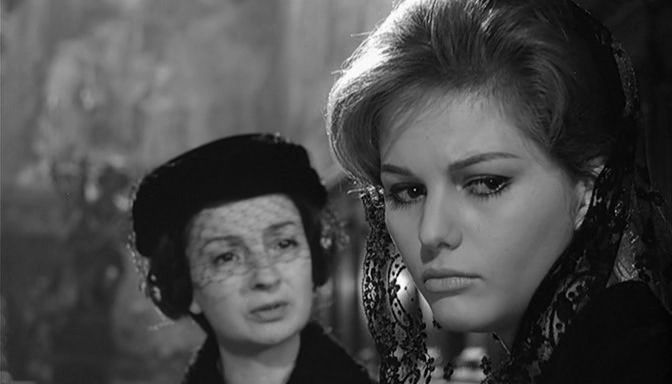 Rina Morelli and Claudia Cardinale in Il Bell'Antonio, 1960, directed by Mauro Bolognini