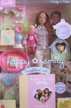 Barbie Happy Family Neighborhood Midge & Nikki Happy Birthday w Puppy (2003) by Mattel. $90.77