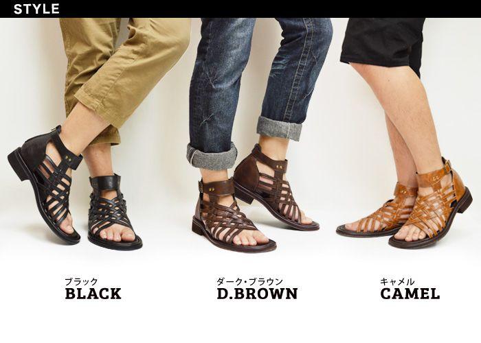 【楽天市場】サンダル メンズ グラディエーターサンダル カジュアルサンダル ブーサン サマーブーツ メンズサンダル コンフォートサンダル 人気 靴 165/【選べる2足で7,000円(税別)対象商品】:ShoeSquare(シュースクエア)