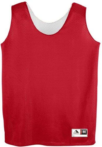 Augusta Sportswear 146 Women's Mesh Reversible Tank Red/White Medium.  Available in 11 color combinations. Fully reversible for wearing on either  side.