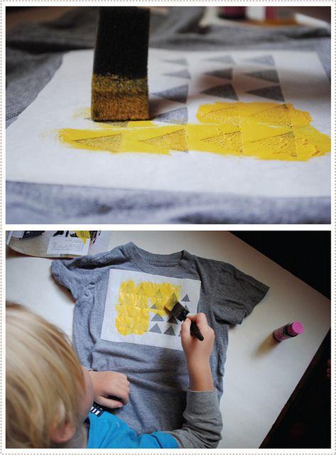 DIY T-shirt stencilling - mer mag blog