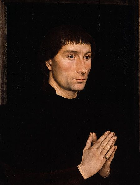 Tommaso di Folco Portinari (1428–1501); Maria Portinari (Maria Maddalena Baroncelli, 1456–?), probably 1470  Hans Memling (Netherlandish, active by 1465, died 1494)  Oil on wood    (.626, Tommaso) overall 17 3/8 x 13 1/4 in. (44.1 x 33.7 cm), painted surface 16 5/8 x 12 1/2 in. (42.2 x 31.8 cm); (.627, Maria) overall 17 3/8 x 13 3/8 in. (44.1 x 34 cm), painted surface 16 5/8 x 12 5/8 in. (42.2 x 32.1 cm)  Bequest of Benjamin Altman, 1913 (14.40.626–27)