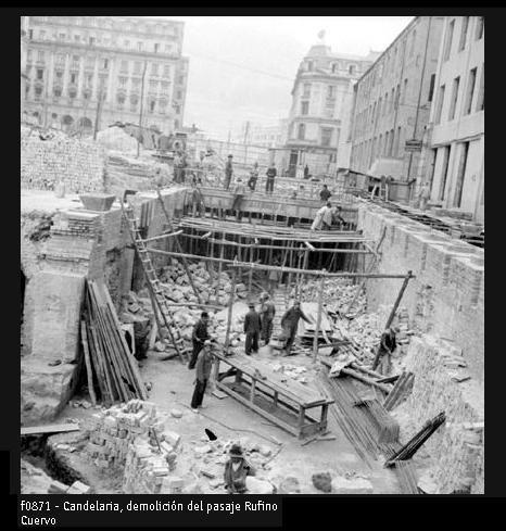 Demolición en La Candelaria. Archivo Nacional.