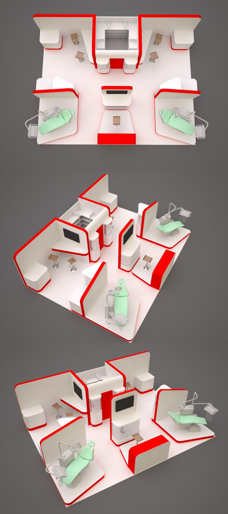 Exhibition stand design for a dental company