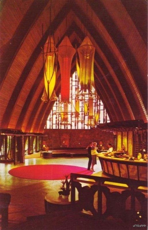 Lobby of the Coco Palms Hotel in Kauai.  Heavily damaged by Hurricane Iniki in '92.