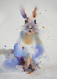 Bunny by Yvonne Joyner Watercolor ~ x
