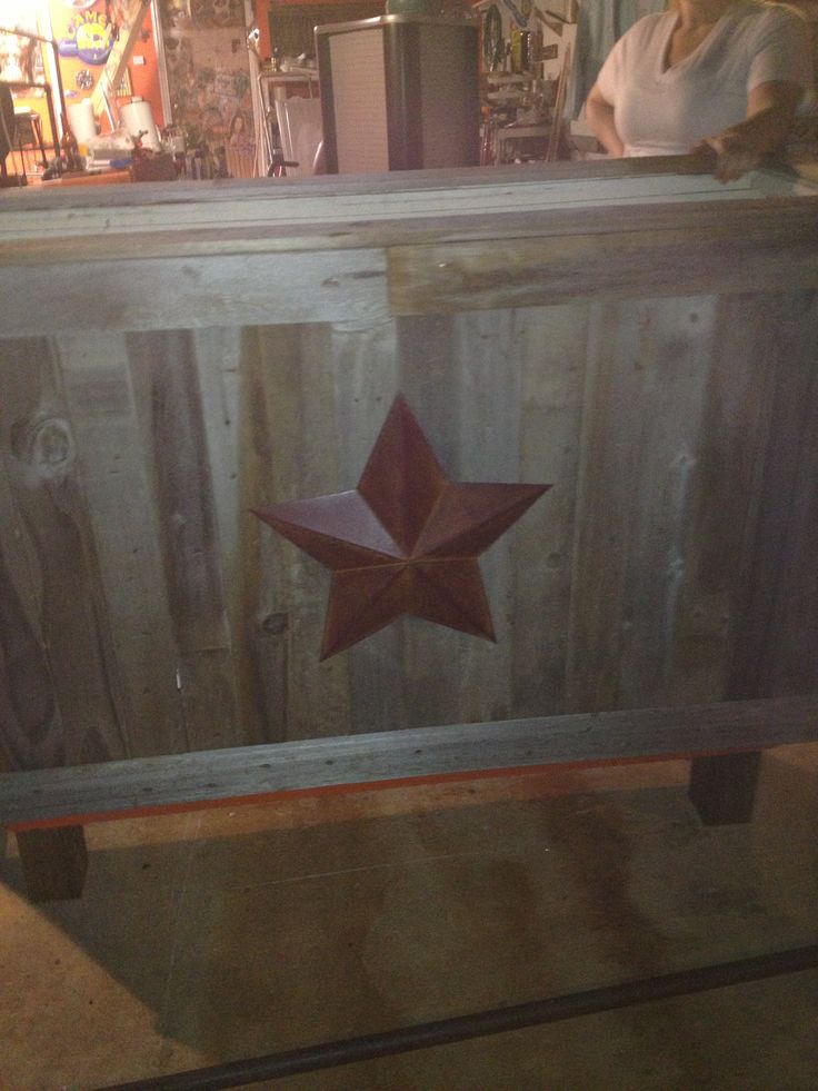 Roughly W X Deep X Tall Rustic Bar/ Sales Counter With Glass Top. Made With  Old Barn Wood.