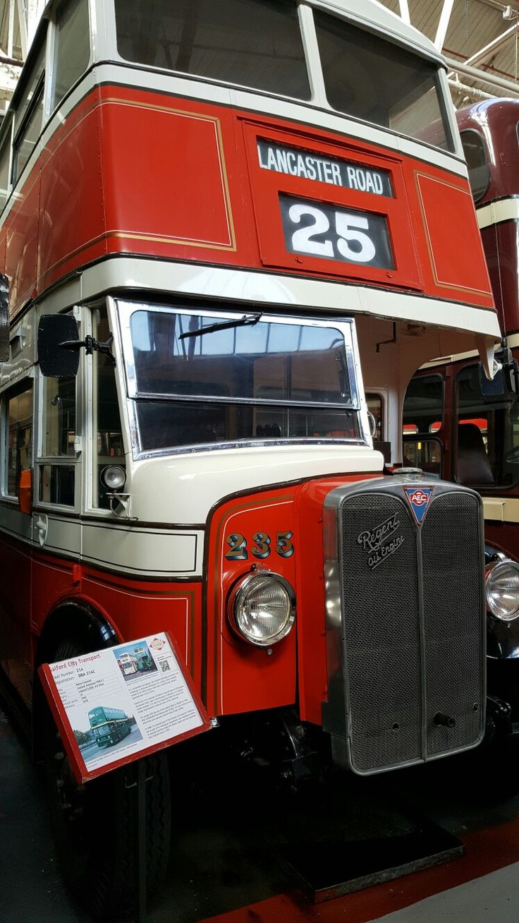 Salford City Transport 235. An AEC Regent. In the Museum of Transport. Manchester.   df