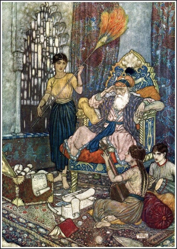 Edmund Dulac: Edmonds Dulac, Art Illustrations, Books Illustrations, Omar Khayyam, Dulac Illustrations, Edmund Dulac, Quatrain Xi, Golden Age, Fairies Tales