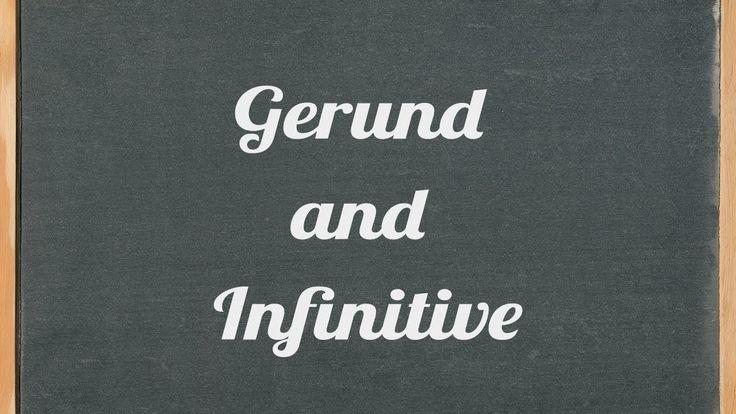 Gerund and Infinitive - English grammar tutorial video lesson