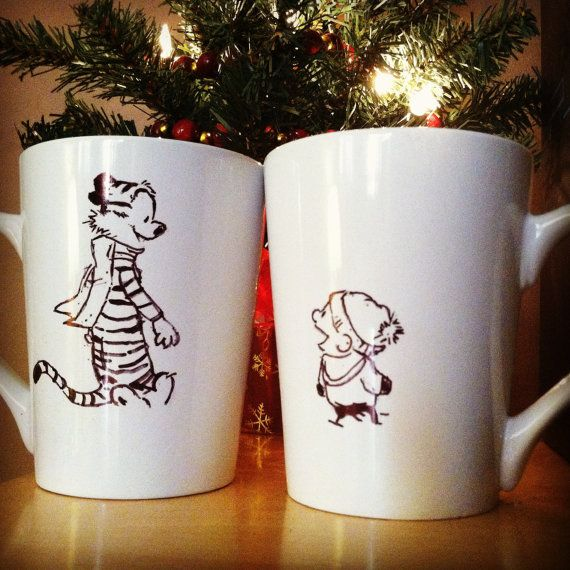 The mugs from this shop seem a bit pricey but these two are adorable
