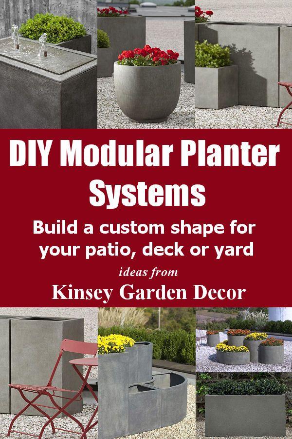 DIY Modular Planter Systems Build a custom shape for your patio