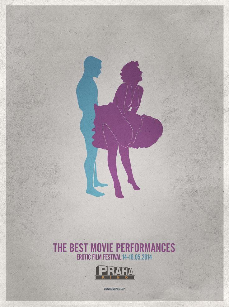"Poster Cinema Kino Praha - Erotic Film Festival 2nd edition LURZER""S ARCHIVE 05.2014"