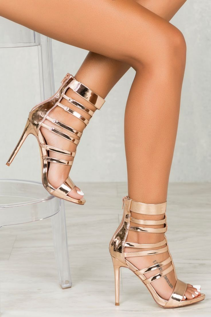 4fc45f4ab0c Valery Caged  Heel in Rose Gold cute  heels classy