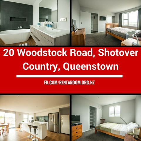 A brand new 2 story high end- 5 star room. $350 including bills with room rental. sen self sustained bedsit apartment in this sunny villa with mountain views.All the bells and whistles: Flatscreen TV and Queen size slat bed MY SKY HDMI, FIBRE unlimited WIFI, Espresso machine, garden, BBQ, Big garages, nicely furnished and decorated, lots off storage. More info: http://www.rentaroom.org.nz/20-woodstock-road-shotover-cou…/ Available NOW Viewings on appointment.