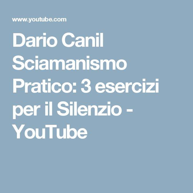 Dario Canil Sciamanismo Pratico: 3 esercizi per il Silenzio - YouTube