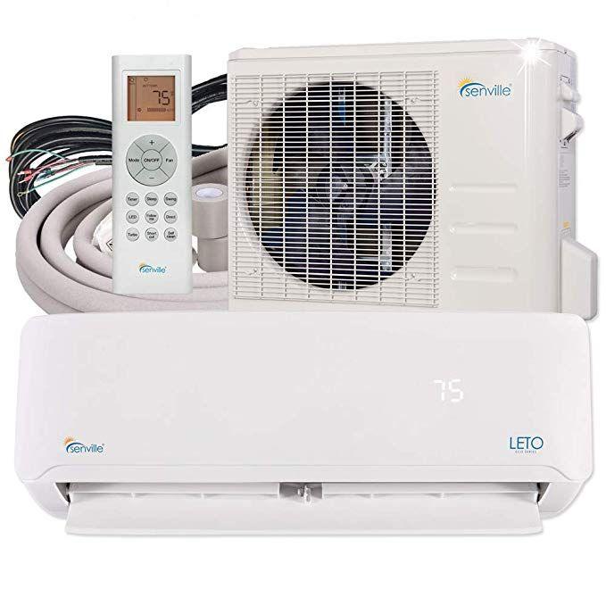 Amazon Com Senville Senl 18cd Mini Split Air Conditioner Heat Pump 18000 Btu 19 Seer Home K Quiet Portable Air Conditioner Heat Pump Window Air Conditioner