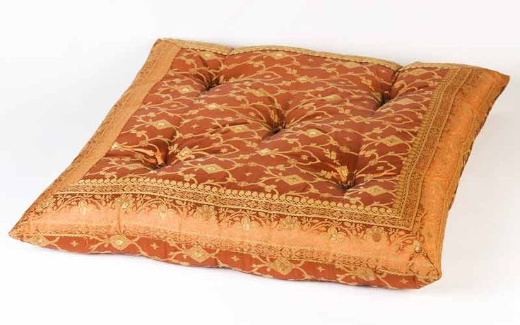 Orange Floor Pillows : Monsooncraft.com - Shop Yoga Pillows and Sari Floor Pillows Floor Cushion Ideas Pinterest ...