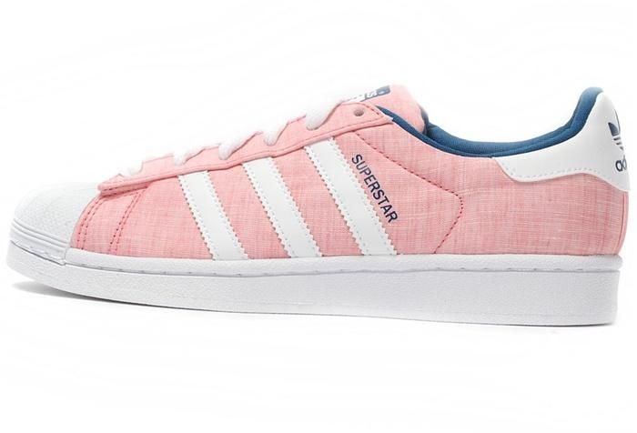 Sale Adidas Superstar 2 Hvit Rosa Casual Sko Online, Best Menns Adidas Superstar 2 Trainers på salg