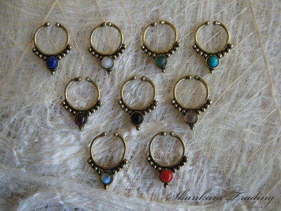Septum Ring Fake Septum Ring Faux Septum Ring by ShankaraTrading