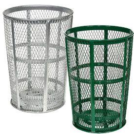 Outdoor Steel Mesh Trash Receptacles #EasyNip