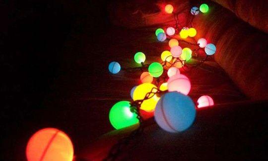 ping pong ball chistmas lights