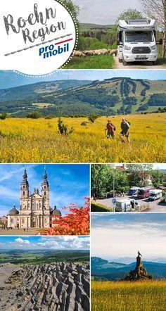 #Wohnmobil-Tour durchs #Mittelgebirge  #Bayern, #Hessen und #Thüringen teilen sich die Landschaft der #Rhön. #Reisemobilisten empfängt die Region mit vielen naturnahen Stellplätzen. #promobil stellt die einzelnen #Stellplätze vor.   #Camping #Reisen