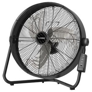 """Lasko 20"""" High Velocity Fan with Remote Control - 20"""" Diameter - 3 Speed - Remote, Carrying Handle - 22"""" Height x 22"""" Width - Metal Blade, Metal Body, Rubber Pad - Black"""