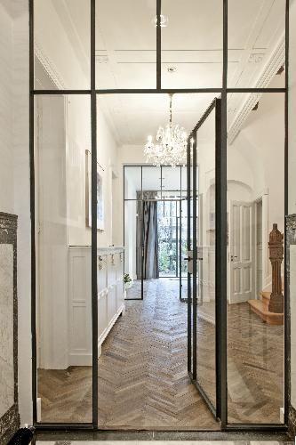 De Oude Plank - Oude houten vloeren Het gaat mij meer om het idee van de glazen wand / afscheiding