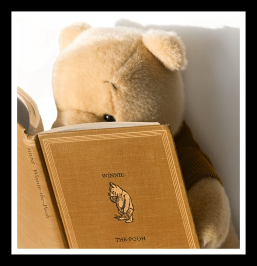 Pooh reading Pooh: Reading Pooh, Reading Winnie, Books Worms, Pooh Reading, Pooh Bears, Famous People, Reading Books, Winnie The Pooh, Books Reading