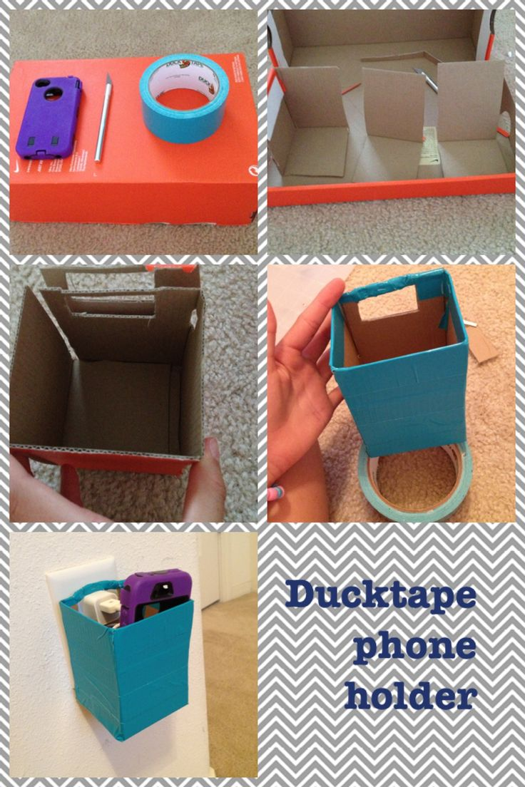 A cute phone holder that I made to keep my phone and charger organized and safe from losing. This is very easy!