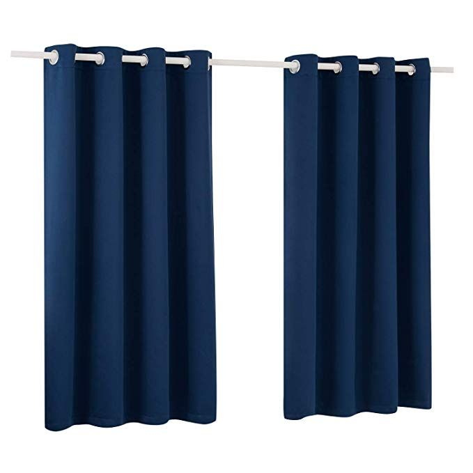 Xumeng Window Treatments Curtains Room Darkening And Thermal Insulating Blackout Curtain For Bedroom Sliding Gl Sliding Glass Door Blackout Curtains Glass Door