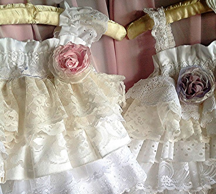 Vintage white lace ruffled Birthday Party Flower by Babybonbons