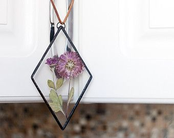 Scandinavian decor autumn stained glass panel botanical by WWHeart