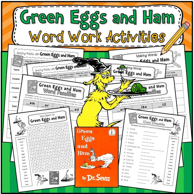 Green Eggs And Ham Word Scramble