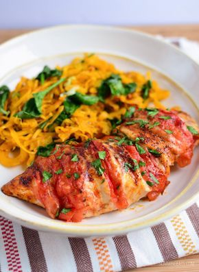 Slimming Eats Tomato and Mozzarella Stuffed Chicken - gluten free, Slimming World and Weight Watchers friendly