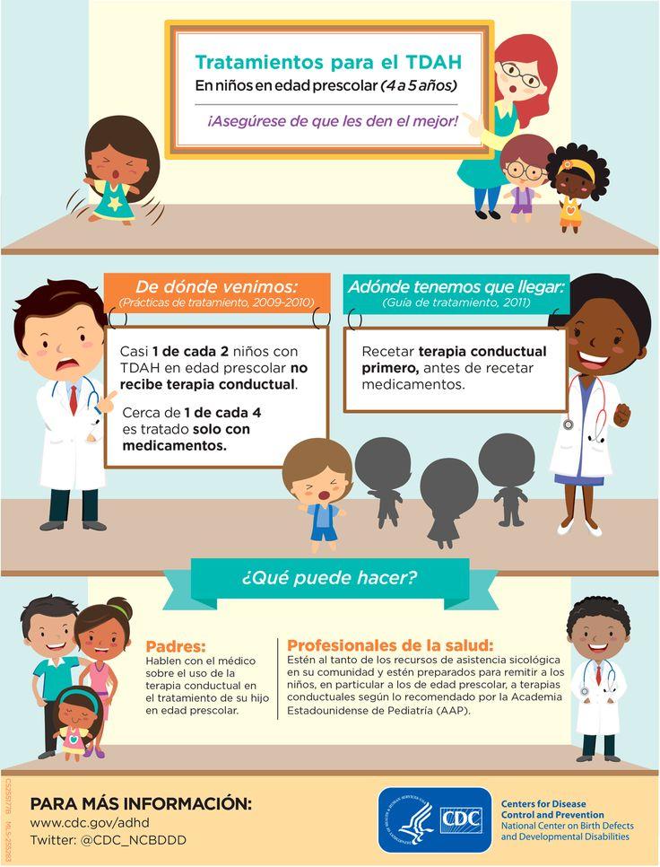 Tratamiento para el TADH: Lo primero que se debe hacer es recetar terapia conductual antes de un tratamiento con medicamentos. Visita nuestro articulo y conoce nuestras recomendaciones para controlar el TADH en los niños http://tugimnasiacerebral.com/gimnasia-cerebral-para-ni%C3%B1os/ejercicios-trastorno-por-deficit-de-atencion-en-ni%C3%B1os-con-sin-hiperactividad-tratamiento-tda-tdah #Infografia #TADH #Gimnasia #Cerebral