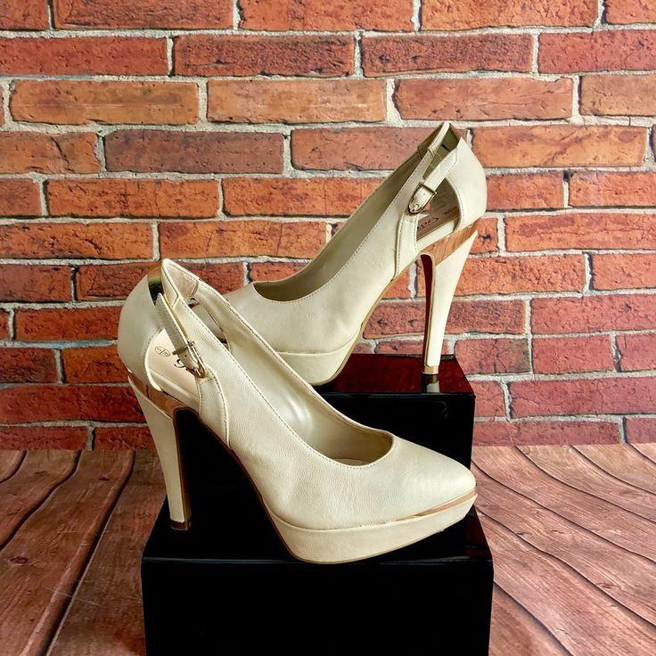 New Look Womens platform Shoes, Uk 5 Euro 38 high heels court pointed nude beige