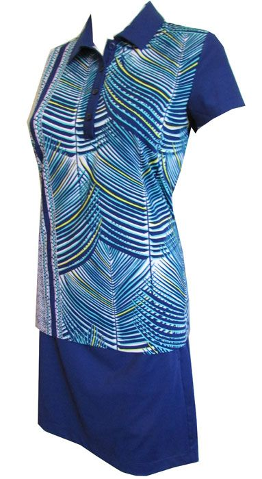 Love golf outfits? Here's our Palmetto (Batik Blue Multi) EP New York Ladies & Plus Size Golf Outfits (Shirt & Shorts)! Check out more of these at #lorisgolfshoppe lorisgolfshoppe.com