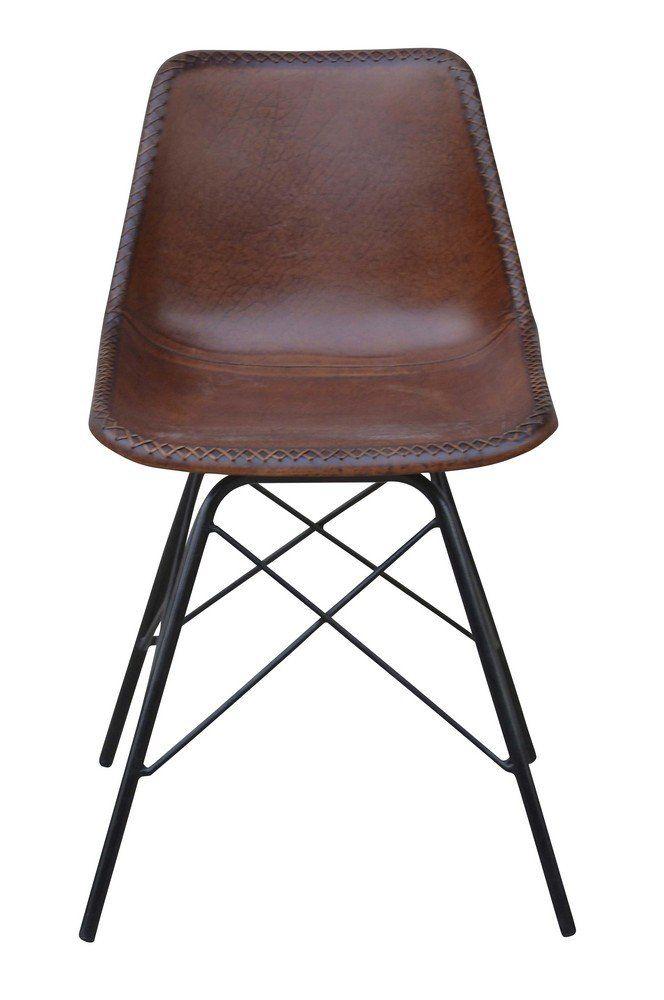 Köp - 1490 kr! Melissa stol - Metall/läder. Stol från Skånska Möbelhuset med nätt stomme i svart metall