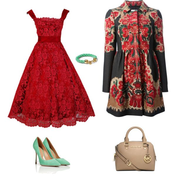 """""""Unusual combination green and red!"""" by red-fashion on Polyvore"""