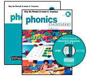 Phonics Lessons with CD-ROM, Grade K by Irene Fountas, Gay Su Pinnell - Heinemann Publishing  {Great resource!}