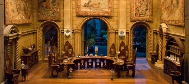The absolute ultimate in breathtaking miniatures, the dining room from Colleen Moore's castle dollhouse.