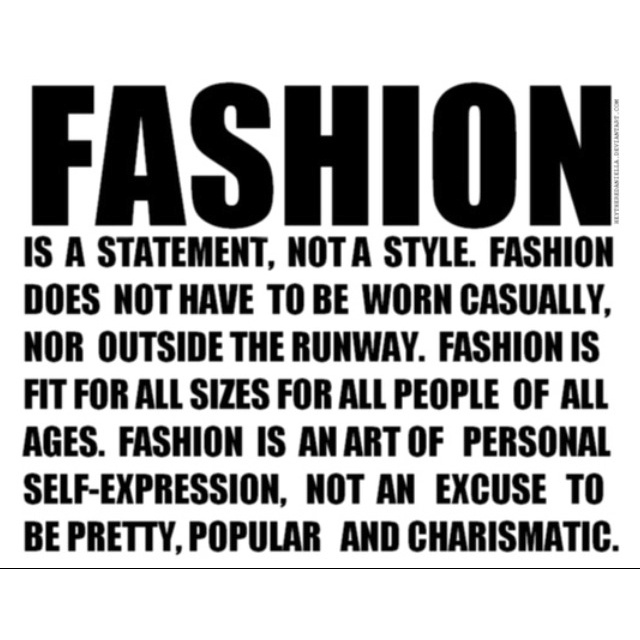 Amen! Fashion. Quotes.