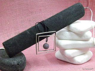 Χειροτεχνημα - Handmade  Κολιέ με τετράγωνα και κύκλους