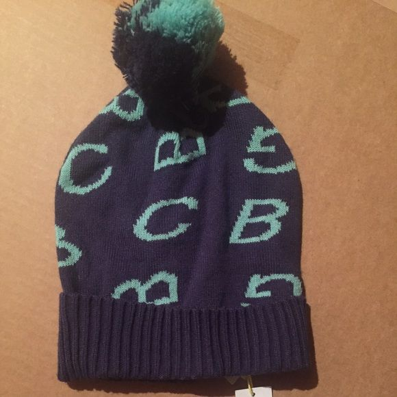 BCBGeneration Knit Cuff Beanie/Skull Cap w/Pom Pom -Woman's One Size Fits All,  - BRAND: BCBGeneration - STYLE: CUFF KNIT BEANIE/SKULL CAP WITH POM POM on top - COLOR: BLUE/TURQUOISE - 100% Acrylic BCBGMaxAzria Accessories Hats