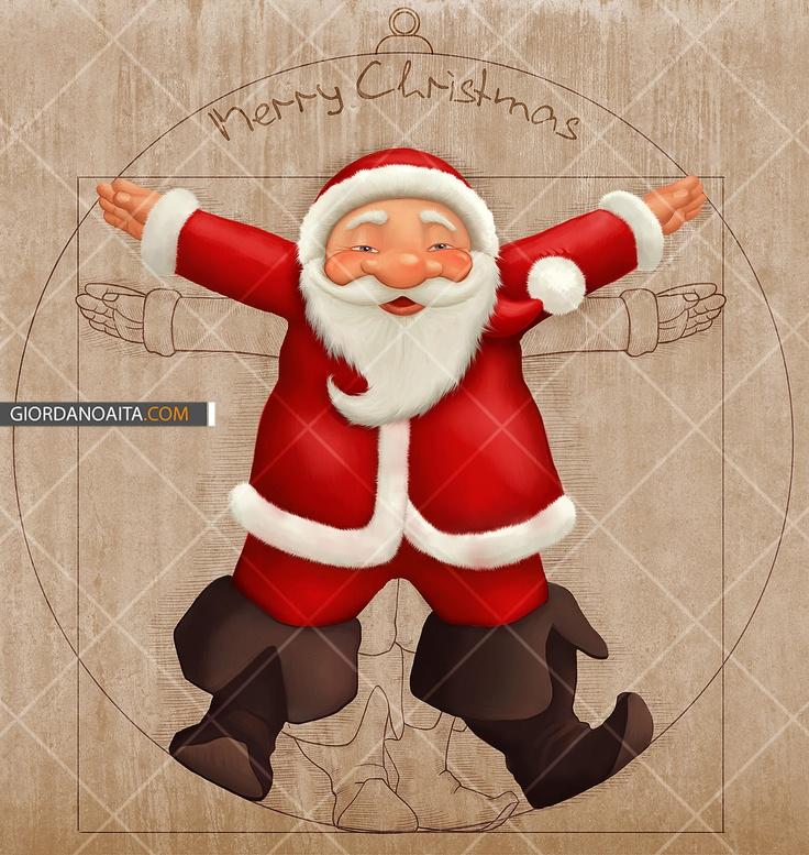 Vitruvian Santa Claus - © Giordano Aita - All right reserved     http://it.fotolia.com/p/120313/partner/120313