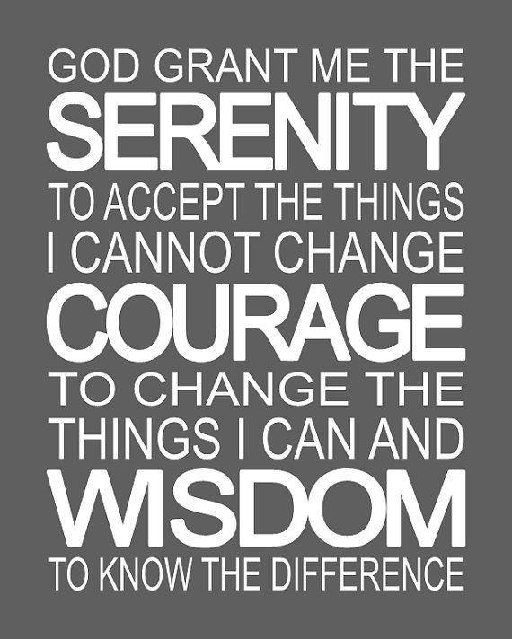 17 Inspiring Wonderful Black And White Contemporary: SERENITY PRAYER Bold & Beautiful Fine Art Typography